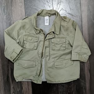Baby GAP Green Cargo Styled Lined Jacket